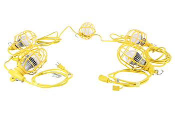Industrial Yellow String Lights (100')