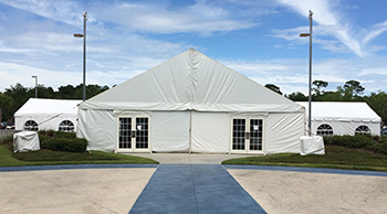 Double French Doors on Structure Tent